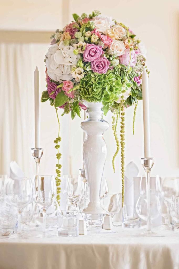 Svatební kytice firmy Frezia fleur v hotelu Intercontinental v Praze.
