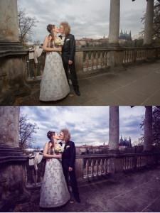 svatební fotograf Praha, postprodukce, retuše
